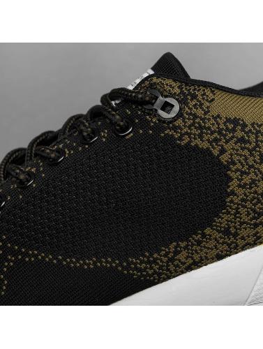 Djinns Herren Sneaker Easy Run Gator Knit in schwarz