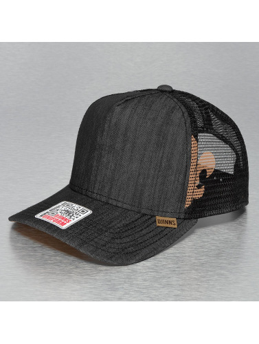 Djinns Trucker Cap Linen 2014 High Fitted in schwarz