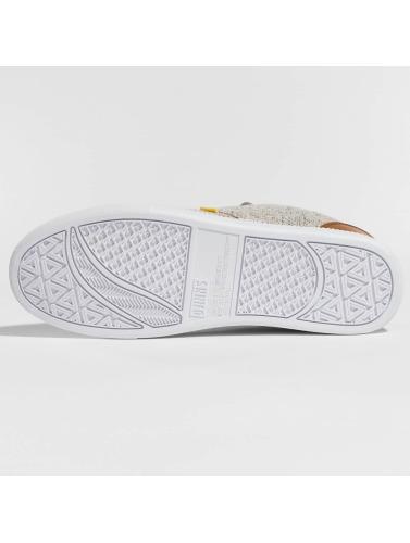 Djinns Hombres Zapatillas de deporte Low Lau Colored Linen in gris