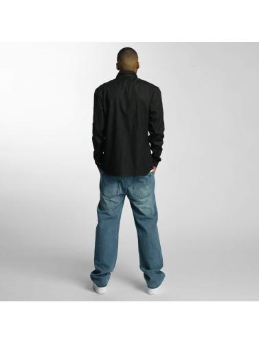 Ecko Unltd. Hombres Camisa Jeans in negro