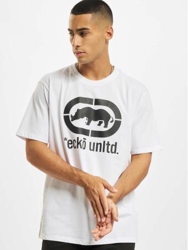 Ecko Unltd. Hombres Camiseta John Rhino in blanco