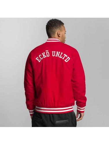 Ecko Unltd. Hombres Chaqueta de béisbol JECKO in rojo