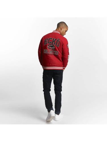 Ecko Unltd. Hombres Chaqueta de béisbol Big Logo in rojo