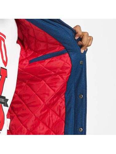 Ecko Unltd. Herren College Jacke Big Logo in blau Auslass 100% Garantiert Qualität Frei Versandstelle Billig Ausverkauf Bester Großhandel Zu Verkaufen 4CgQU53kt