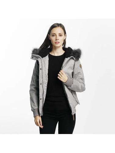 Eight2Nine Damen Winterjacke Big Hood in grau