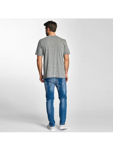 Electric Hombres Camiseta CUT SNAKE in gris