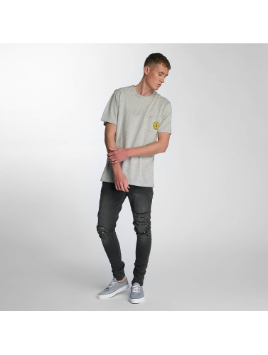 Electric Hombres Camiseta Fast Time Pocket in gris