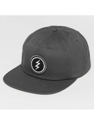 Electric Snapback Cap Volt Patch in grau