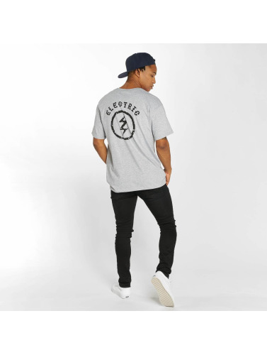 Electric Herren T-Shirt CIRCLE BOLT in grau