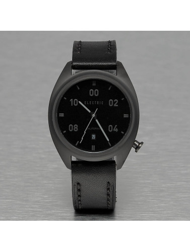 Electric Uhr OW01 Leather in schwarz