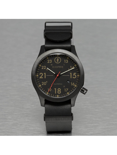 Electric Uhr FW01 Leather in schwarz