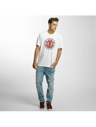 Element Hombres Camiseta Seal in blanco