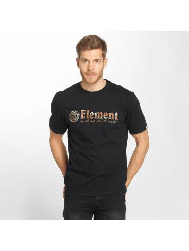 Element Hombres Camiseta Horizontal Fill in negro