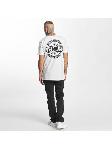 Famous Stars and Straps Hombres Camiseta Chaos in blanco