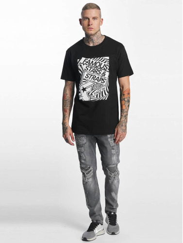 Famous Stars and Straps Hombres Camiseta Zone in negro
