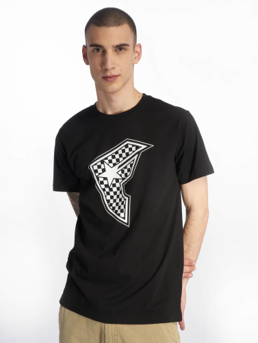 Famous Stars and Straps Hombres Camiseta Checker Badge in negro