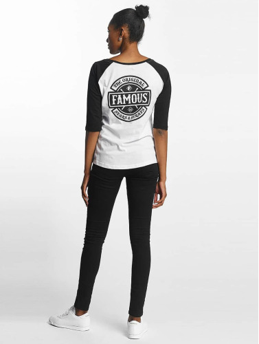 Famous Stars and Straps Damen T-Shirt Chaos Patch Raglan in weiß