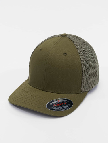 Flexfit <small>    Flexfit   </small>   <br />   ted Cap Mesh Cotton Twill in olive