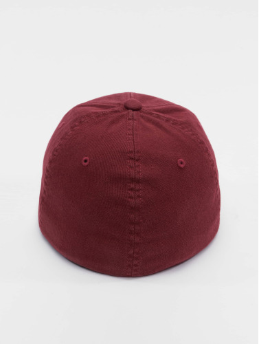 Flexfit <small>    Flexfit   </small>   <br />   ted Cap Garment Washed Cotton Dat in rot