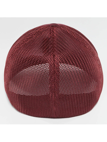 Flexfit <small>    Flexfit   </small>   <br />   ted Cap Mesh Cotton Twill in rot