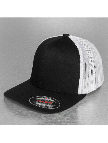 Flexfit <small>    Flexfit   </small>   <br />   ted Cap Mesh Cotton Twill Two Tone in schwarz