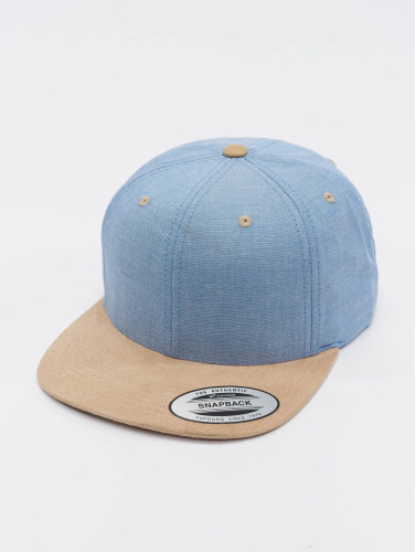 Flexfit Snapback Cap Chambray Suede in blau