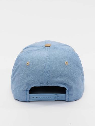 Flexfit Snapback Cap Chambray Suede in blau