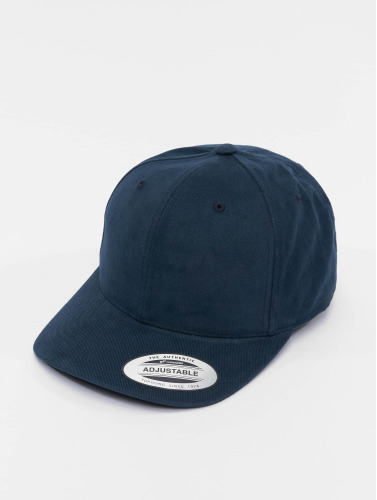 Flexfit Snapback Cap Brushed Cotton Twill Mid-Profile in blau