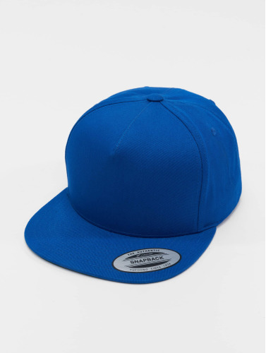 Flexfit Snapback Cap Classic 5 Panel in blau