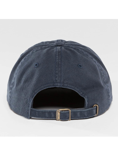 Flexfit Snapback Cap Low Profile Destroyed in blau