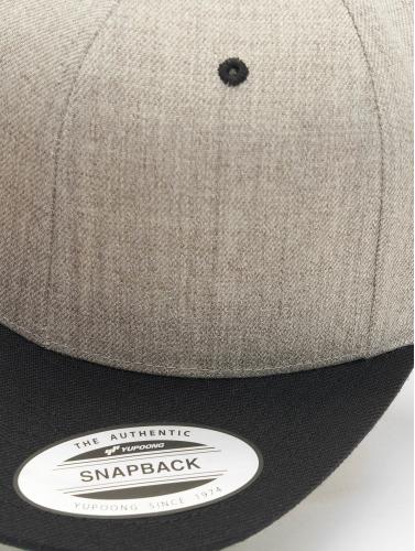 Flexfit Snapback Cap Classic Two Tone in grau
