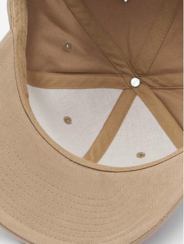Flexfit Snapback Cap Brushed Cotton Twill Mid-Profile in khaki