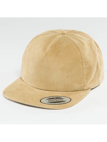 Flexfit Snapback Cap Premium Corduroy in khaki