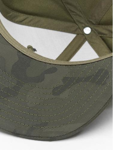 Flexfit Snapback Cap Camo Visor in olive