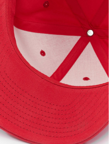 Flexfit Snapback Cap Brushed Cotton Twill Mid-Profile in rot