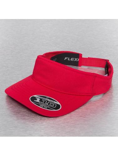 Flexfit Snapback Cap Visor in rot
