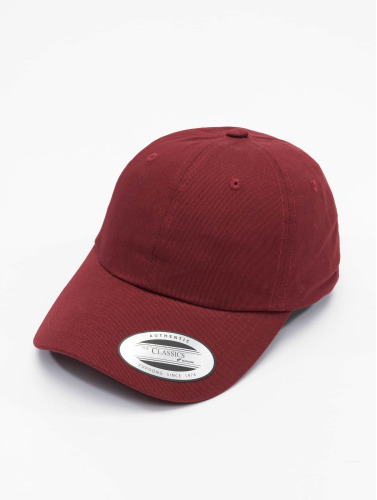 Flexfit Snapback Cap Low Profile Cotton Twill in rot