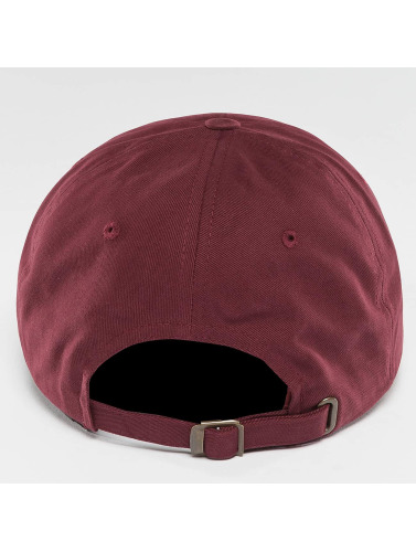Flexfit Snapback Cap Peached Cotton Twill Dad in rot