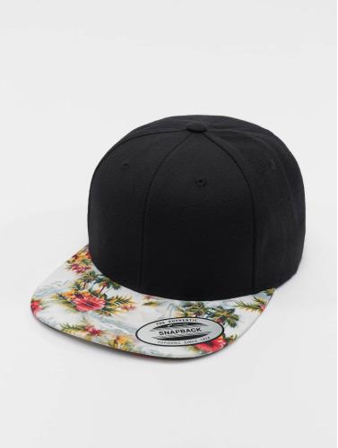 Flexfit Snapback Cap Floral in schwarz