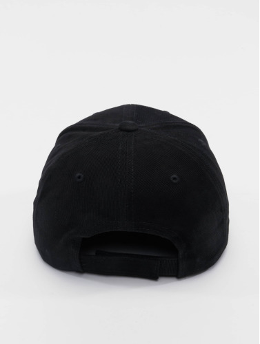 Flexfit Snapback Cap Brushed Cotton Twill Mid-Profile in schwarz