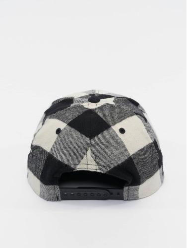Flexfit Snapback Cap Checked Flanell in schwarz