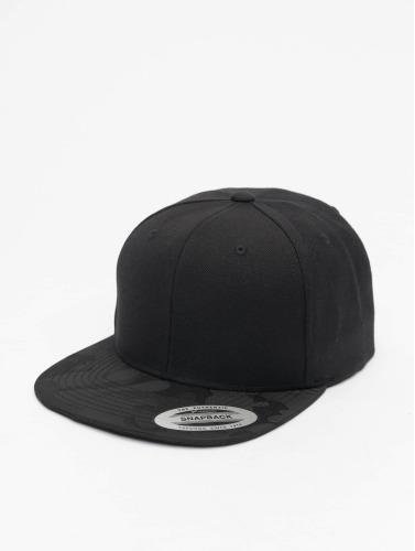 Flexfit Snapback Cap Camo Visor in schwarz