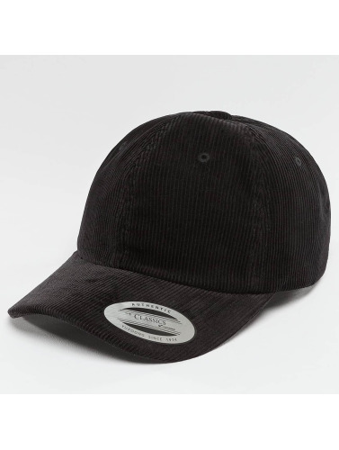 Flexfit Snapback Cap Low Profile Corduroy Dad in schwarz