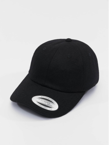 Flexfit Snapback Cap Low Profile Melton in schwarz