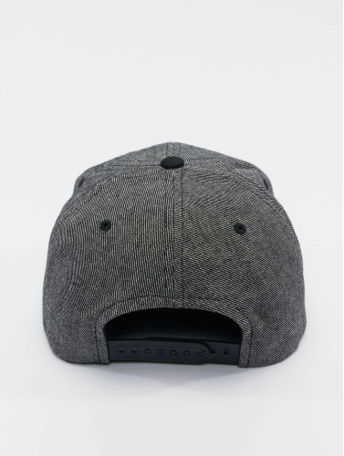 Flexfit Snapback Cap Solid Melange in schwarz