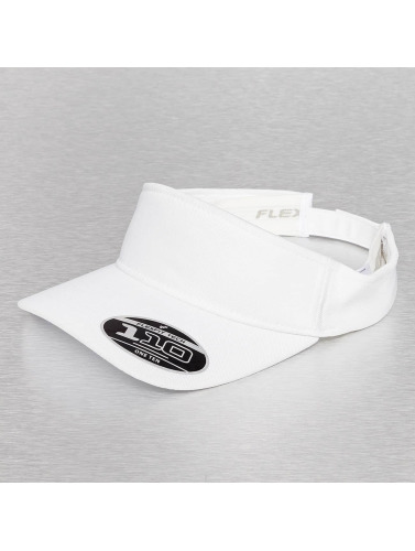 Flexfit Snapback Cap Visor in weiß