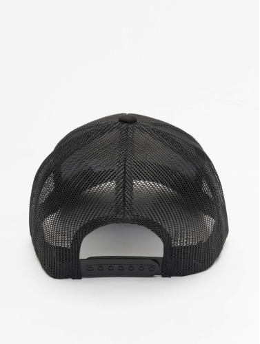 Flexfit Trucker Cap Retro in schwarz