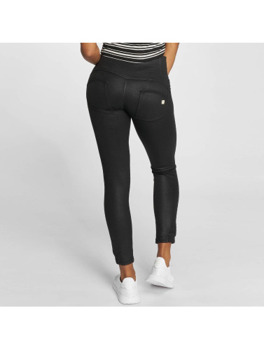 Freddy Damen High Waist Jeans Pantalone Lungo in schwarz