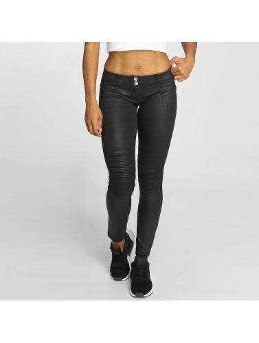 Freddy Damen Skinny Jeans Pantalone Lunga in schwarz