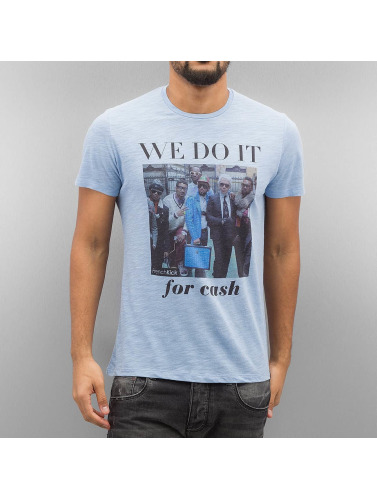 Fransk Spark Hombres Camiseta Raidere I Azul handle for salg billig online fabrikkutsalg MVGbU